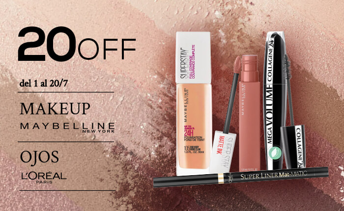 Maybelline y Loreal hasta 20off Mobile
