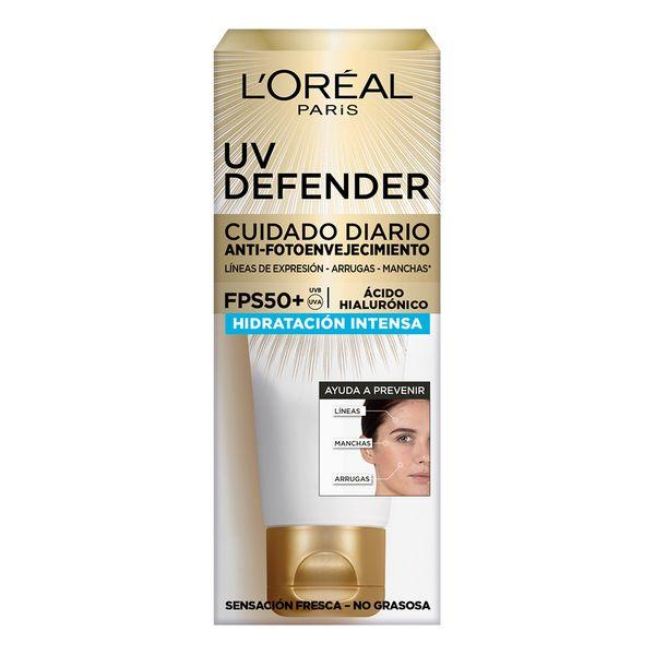 crema-facial-loreal-paris-uv-defender-hidratacion-intensa-fps-50-x-60-ml