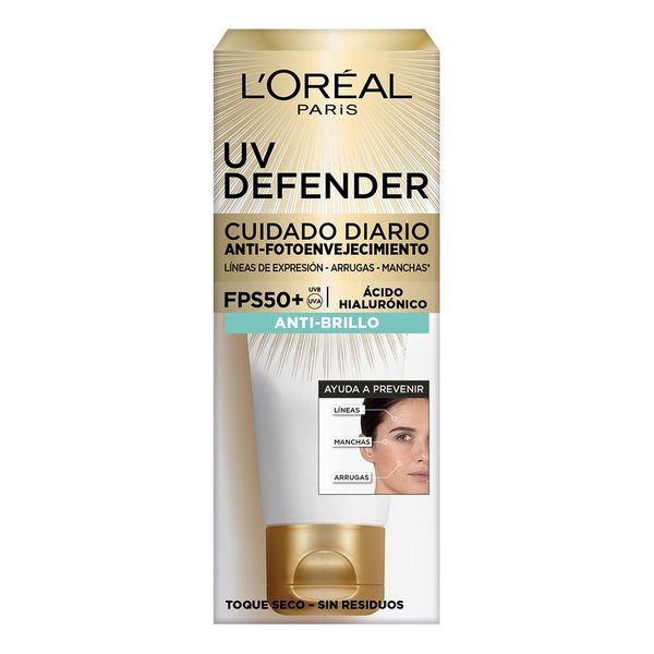crema-facial-loreal-paris-uv-defender-anti-brillo-fps-50-x-60-ml