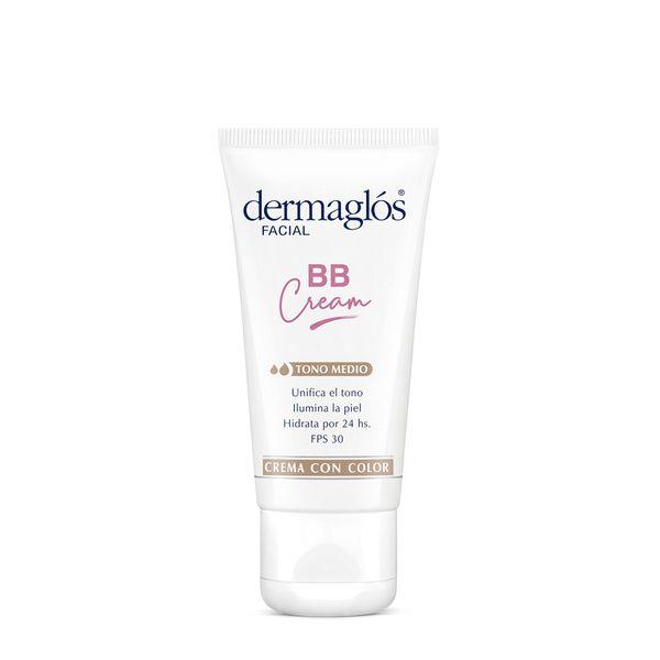 crema-facial-dermaglos-bb-cream-fps-50-tono-medio-x-50-g