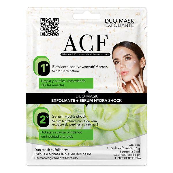 mascara-facial-acf-duo-exfoliante-serum-hydra-shock-x-14-g