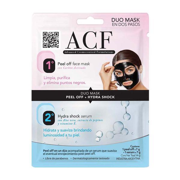 mascara-facial-acf-peel-off-black-serum-hydra-shock-2-x-7-gr